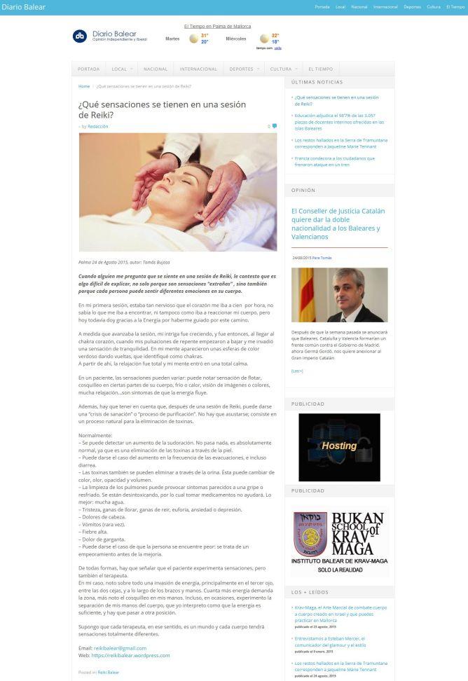 '¿Qué sensaciones se tienen en una sesión deReiki_ - Diario Balear' - www_diariobalear_es__p=22695